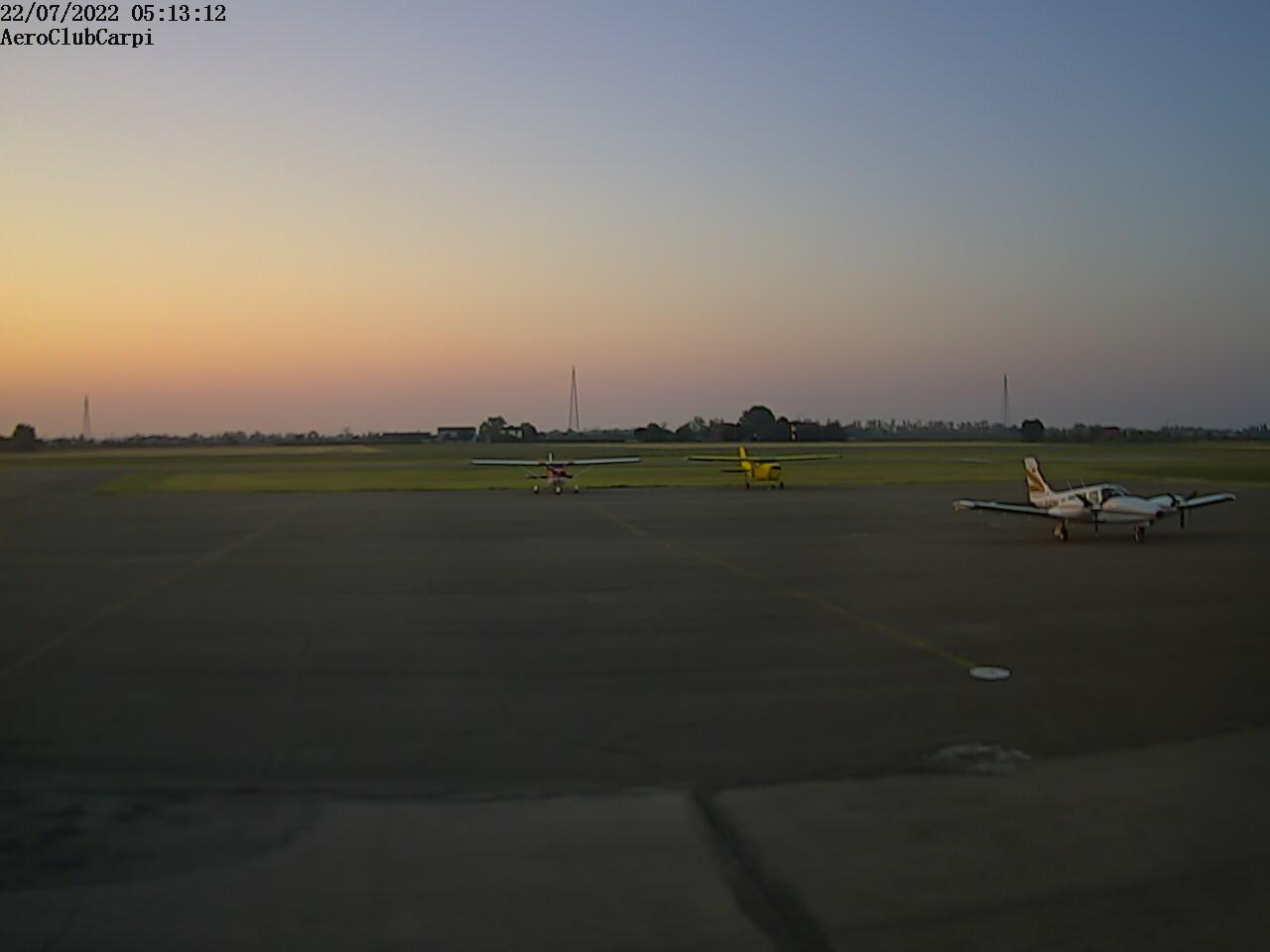 Osservatorio Carpi nord<br>Webcam puntamento sud est<br>Loc. Fossoli-Budrione - Carpi (MO)